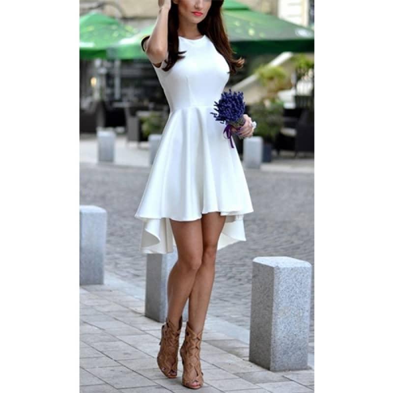 Официална рокля асиметрична - EvizaBG